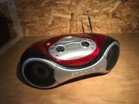 Portable CD player and AM/FM radio