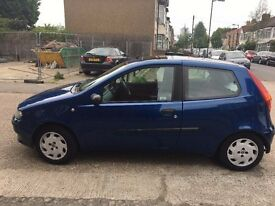 Electric blue Fiat Punto 1.2 16v 3 door, Great run around, Cheap and friendly.