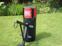 leather punch bag, with heavy duty wall bracket