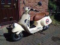 2009 Vespa GTV 125 automatic scooter, 1 year MOT, very good runner, good condition, ride away,,,,