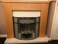 Fireplace with electric heater