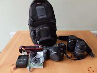 Canon 60D 18MP Digital SLR Camera with 50mm; 28-135mm Lenses; 10-24mm Lens, LowePro Bag