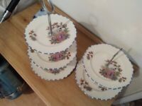 3 and 2 tier cake stands