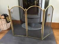Fire Guard - 4 panel in bronze style