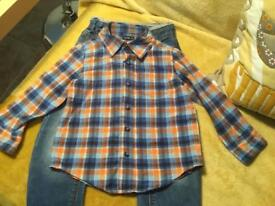Boys M and S jeans and Gap check shirt age 3 both for £4