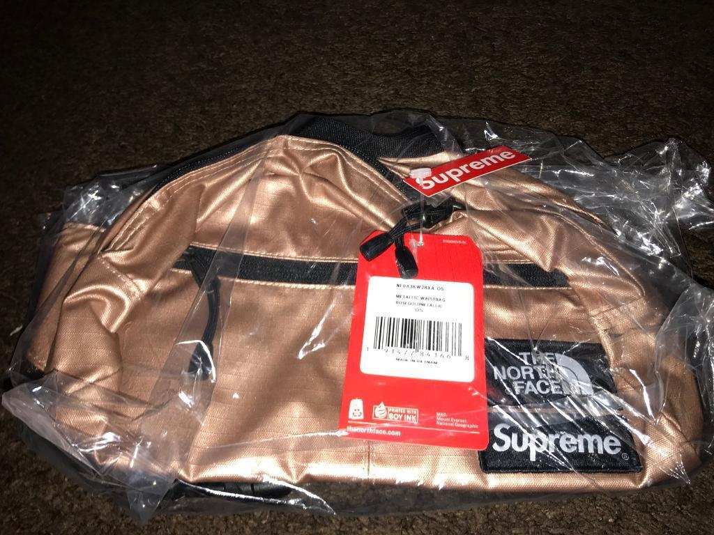c3fb1d11a Supreme The North Face Metallic Roo II Lumbar Pack Waist Bag Rose Gold for  sale | in Clapham Common, London | Gumtree