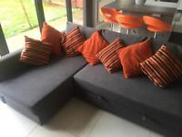 Ikea fabric corner sofa bed for sale