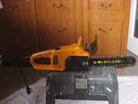 McCulloch electric chain saw buyer collects Chippenham