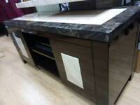 Tenore Solid Marble Topped Media Unit