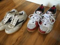 Table tennis shoes, size 4 and size 3.5