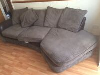 Sofa with Sitting Chair Brown