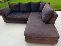 Black fabric Collins & Hayes Catalina corner sofa