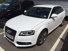 AUDI A3 2LTR S-LINE BLACK EDITION 2010 MODEL (WHITE) 74,000 EXCELLENT RUNNER AND CONDITION