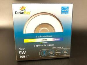 DawnRay 4 inch 9 W gimbal LED Recessed Light