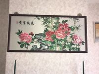 Chinese embroidered tapestry picture