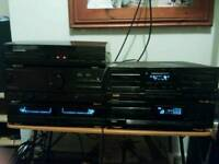 Kenwood hifi system with record player and speakers