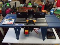 POWER CRAFT ROUTER TABLE WITH ROUTER