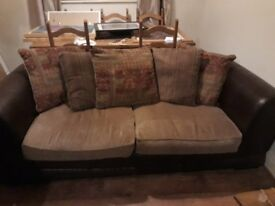two dfs 3 seater sofas