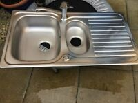 Kitchen sink with Bristan tap