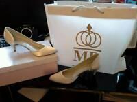 Ivory Silk Wedding Shoes