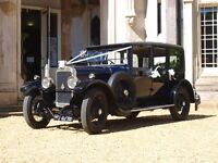 Luxury Vintage Wedding Car For Hire in Dorset with uniformed chauffeur