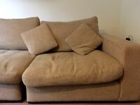 3 Seater Fabric Sofa, Splits into Seperate Chairs.