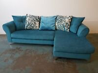 EXCLUSIVE BERKELEY MAGNA FABRIC CORNER SOFA BOUGHT IN DFS LOUNGE SETTEE WITH CUSHIONS CAN DELIVER