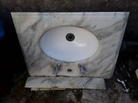 Sink with marble surround