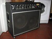 Classic 1970s/1980s Fal Kestrel twin speaker combo amplifier for guitar.