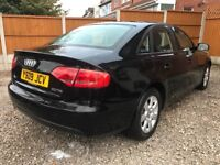 2009 09 AUDI A4 2.0 TDI , MANUAL ,B8, BLACK, DAMAGED/ SALVAGE/ REPAIRABLE , NOT S LINE, PX
