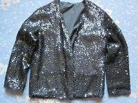 Vintage Black Sequin Edge to Edge Jacket