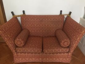 Knole Traditional Sofa 2 seater John Alan Design, Bath with matching armchair