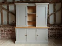 Bespoke freestanding kitchen unit dresser farmhouse cupboard in Farrow & Ball made by Shirebrook