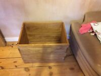 Solid mango wood toy box