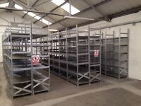 50 BAYS OF GALVENISED SUPERSHELF INDUSTRIAL SHELVING 2.4M HIGH ( PALLET RACKING , STORAGE)