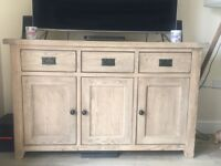 Provence Solid Oak Large Sideboard - In great condition! Less than a year old