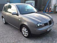 Seat Arosa S (VW Lupo) 1.0, 2003/53 Reg, BRAND NEW MOT, Full Service History, 3 Door H/b, Grey