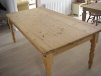 Pine Dining Table , seats 8