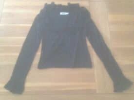 Moschino Jeans Black Women's Top (42 (Italian)) JUST REDUCED