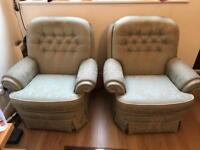 Sofa set with 2 chairs