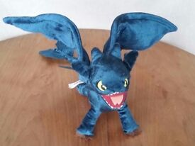 New Dreamworks How to Train Your Dragon Toothless Night Fury Plush Toy