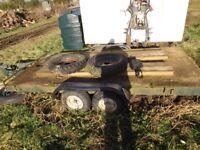 small twin wheel car trailer