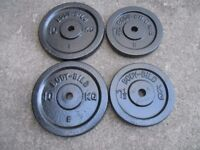 67kg of Metal Weight plates