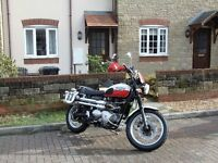 Triumph 900 Scrambler for sale. Excellent condition, low miles, lots of history, long MOT.