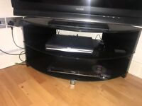 Black glass TV stand, up to 40-42""
