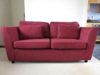 2 Seater Burgundy Sofa