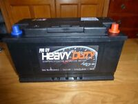 large heavy duty car battery for vans and 4x4 unused