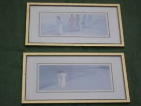 2 Peter Severin Kroyer Beach Scenes Prints in Glazed Wood Frames by Marks and Spencer for £15.00