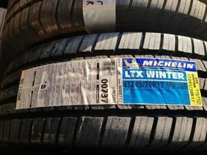 245/70/17 LT 2 pneus hivers michelin LTX winter neuf avec les collants