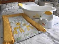 Baby bath, potty and changing mat set